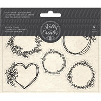 American Crafts - Kelly Creates - Acrylic Traceable Stamps - Wreaths