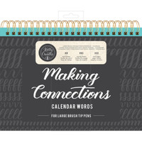 American Crafts - Kelly Creates - Large Brush Workbook - Connections - Calendar