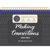 American Crafts - Kelly Creates - Large Brush Workbook - Connections - Greetings