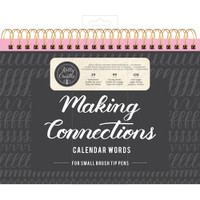 American Crafts - Kelly Creates - Small Brush Workbook - Connections - Calendar
