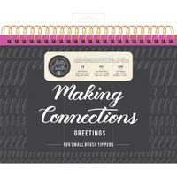 American Crafts - Kelly Creates - Small Brush Workbook - Connections - Greetings