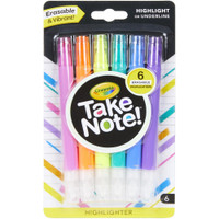 Crayola Take Note! Erasable Highlighters - Set of 6