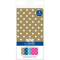 Doodlebug Designs - Traveler Notebook Inserts - Adorable Dots - Standard - Set of 4 (Graph, Dot Grid)