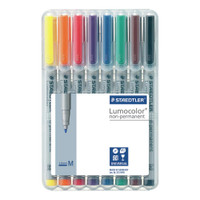 Staedtler - Lumocolor Non-Permanent 1.0mm Pens - Set of 8