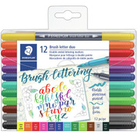 Staedtler - Double Ended Lettering Markers - Set of 12