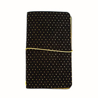 Recollections - Standard Traveler's Planner - Black with Gold Dots
