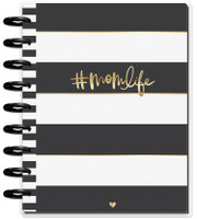Create 365 - The Happy Planner - Me and My Big Ideas - 2019 Deluxe Classic Happy Planner - 12 Month - Super Mom (Dashboard Layout) - Black & White