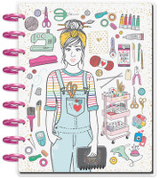 Create 365 - The Happy Planner - Me and My Big Ideas - 2019 Deluxe Classic Happy Planner - 12 Month - Miss Maker (Checklist Layout) - Craft