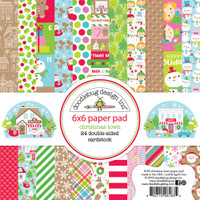 "Doodlebug Double-Sided Paper Pad 6"" x 6"" - Christmas Town"
