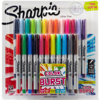 Sharpie - Cosmic Color Burst - Ultra Fine Permanent Markers - Set of 24