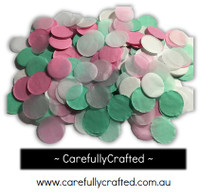 1/2 Cup Tissue Paper Confetti - Pink and Mint - 1 inch Circles  - #CC1