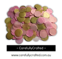 1/2 Cup Tissue Paper Confetti - Pink and Gold - 1 inch Circles  - #CC2