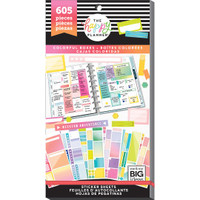 Me and My Big Ideas - The Happy Planner Value Pack Stickers - Color Blocks
