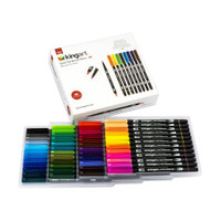 KingArt - Dual Tip Brush Pens - Set of 48
