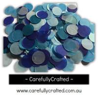 1/2 Cup Tissue Paper Confetti - Blue Shades - 1 inch Circles  - #CC6