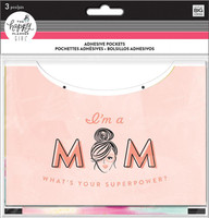 Me and My Big Ideas - The Happy Planner - Adhesive Pockets - Super Mom
