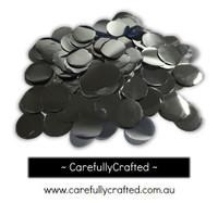 1/2 Cup Foil Paper Confetti - Silver - 1 inch Circles  - #CC8