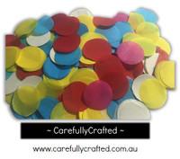 1/2 Cup Tissue Paper Confetti - Rainbow - 1.25 inch Circles  - #CC10