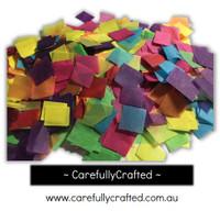 1/2 Cup Tissue Paper Confetti - Rainbow - 0.75 inch Squares  - #CS3