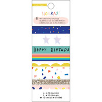 Crate Paper - Hooray Washi Tape - Set of 8
