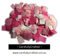 1/2 Cup Tissue Paper Confetti - Pink and White Shades - 0.75 inch Squares  - #CS4