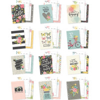 Carpe Diem - Simple Stories - Double-Sided A5 Planner Inserts - Monthly, Undated - Hello