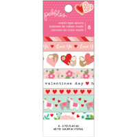 Pebbles - Loves Me Washi Tape - Set of 8
