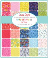 Moda Fabric Precuts - Lazy Days by Gina Martin - Fat Eighth Bundle