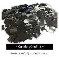 1/2 Cup Tissue Foil Confetti - Silver - 0.25 inch Squares  - #CS7