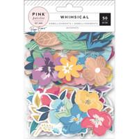 Pink Paislee - Paige Evans Whimsical - Ephemera Cardstock Die-Cuts - Floral