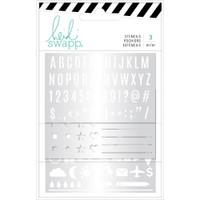 Heidi Swapp - Memory Planner Stencils - Color Fresh