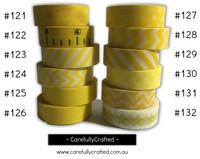 Washi Tape - Yellow - 15mm x 10 metres - High Quality Masking Tape - #121 - #132