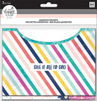 Me and My Big Ideas - The Happy Planner - Adhesive Pockets - Faith Warrior