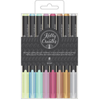 American Crafts - Kelly Creates - Metallic Jewel Bullet Tip Pens - Set of 8