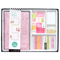 Heidi Swapp - Color Fresh Memory Planner - Journal Box Kit - Pink Glitter