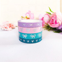 Oh So Paperies - Hearts and Tie Knots Washi Tape Collection - Set of 4