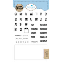 Elizabeth Craft Designs - Clear Planner Stamps - Schedule