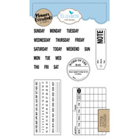 Elizabeth Craft Designs - Clear Planner Stamps - Calendar
