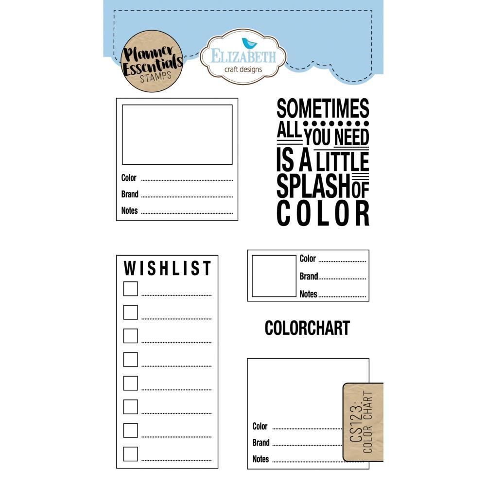 Elizabeth Craft Designs Clear Planner Stamps Color Charts