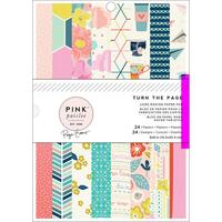 """Pink Paislee - American Crafts - Single-Sided Paper Pad 6"""" x 8"""" - Turn the Page"""