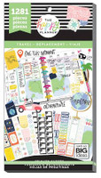 Me and My Big Ideas - The Happy Planner - Value Sticker Book - Travel (Exclusive)
