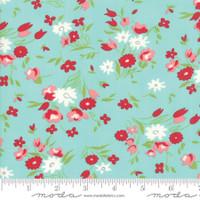 Moda Fabric - Little Snippets - Bonnie & Camille - Aqua  #55182 12
