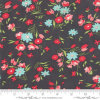 Moda Fabric - Little Snippets - Bonnie & Camille - Charcoal  #55182 16