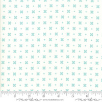 Moda Fabric - Little Snippets - Bonnie & Camille -Aqua Cream  #55183 25