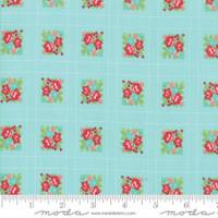 Moda Fabric - Little Snippets - Bonnie & Camille -Aqua #55187  12