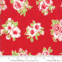 Moda Fabric - Little Snippets - Bonnie & Camille -Red #55188  11