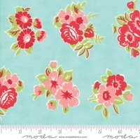 Moda Fabric - Little Snippets - Bonnie & Camille -Aqua #55188  12
