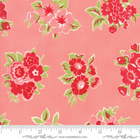 Moda Fabric - Little Snippets - Bonnie & Camille -Coral #55188  13