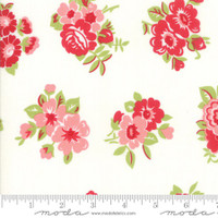 Moda Fabric - Little Snippets - Bonnie & Camille -Cream #55188  15