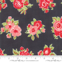 Moda Fabric - Little Snippets - Bonnie & Camille -Charcoal #55188  16
